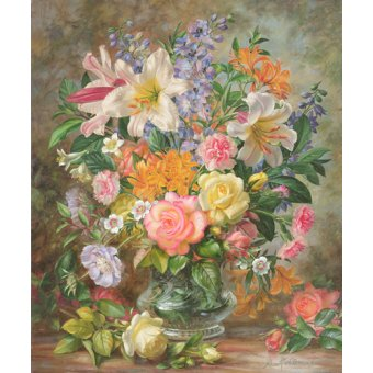 quadros de flores - Quadro - The Glory of Summertime (oil on canvas) - - Williams, Albert
