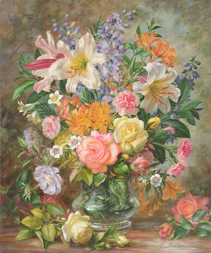 quadros-de-flores - Quadro - The Glory of Summertime (oil on canvas) - - Williams, Albert