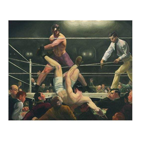 pinturas do retrato - Quadro -Dempsey and Firpo-