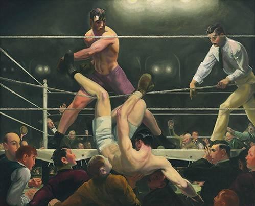 cuadros de retrato - Cuadro -Dempsey and Firpo- - Bellows, George