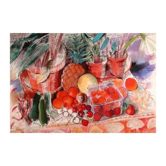 Quadro - Summer Fruits (pastel on paper) -