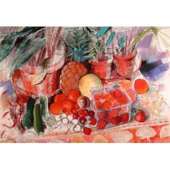 Quadros para sala de jantar - Quadro - Summer Fruits (pastel on paper) - - Spencer, Claire