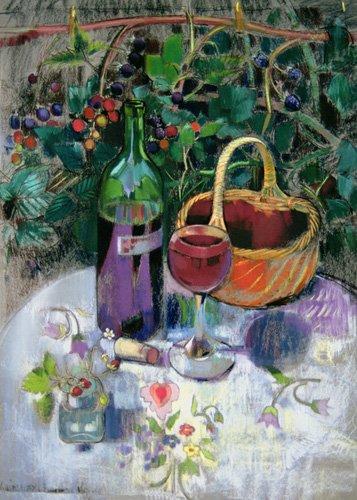 naturezas-mortas - Quadro - Last of the Summer Wine (pastel on paper) - - Spencer, Claire