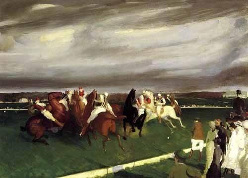 quadros de animais - Quadro -Polo at Lakewood- - Bellows, George