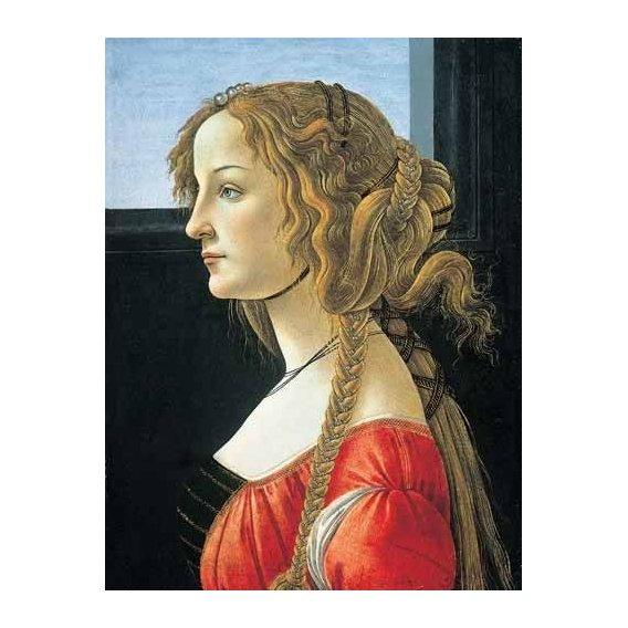 cuadros de retrato - Cuadro -Joven mujer-