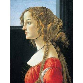 - Quadro -Joven mujer- - Botticelli, Alessandro