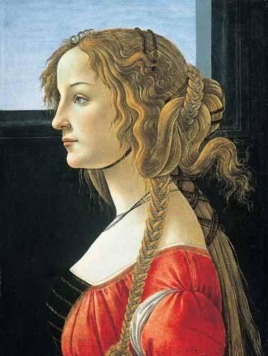 cuadros de retrato - Cuadro -Joven mujer- - Botticelli, Alessandro