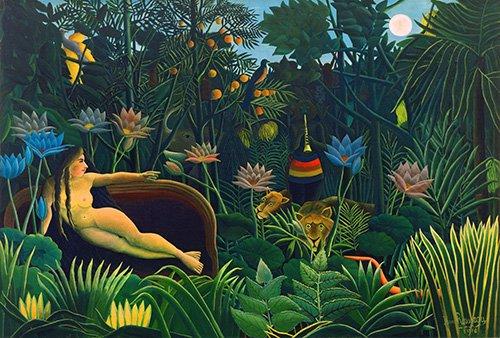 quadros-de-paisagens - Quadro -o sonho- - Rousseau, Henri