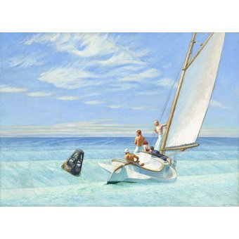 quadros de paisagens - Quadro -Ground Swell, 1939 - - Hopper, Edward