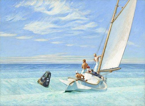 quadros-de-paisagens-marinhas - Quadro -Ground Swell, 1939 - - Hopper, Edward