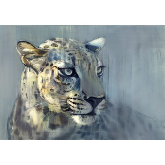 quadros de animais - Quadro -Predator II (Arabian Leopard), 2009 (oil on paper)- - Adlington, Mark