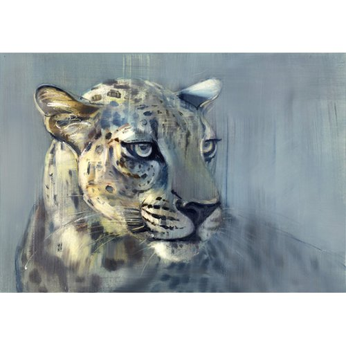 Quadro -Predator II (Arabian Leopard), 2009 (oil on paper)-