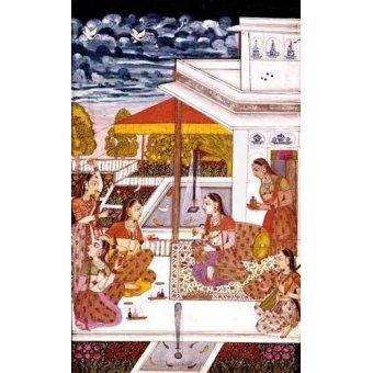 - Quadro -Mujeres charlando en la terraza- - _Anónimo Persa