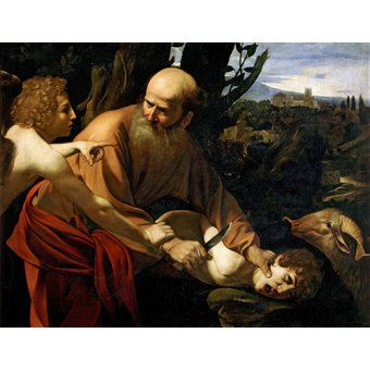 quadros religiosos - Quadro -Sacrificio De Isaac- - Caravaggio, Michelangelo M.