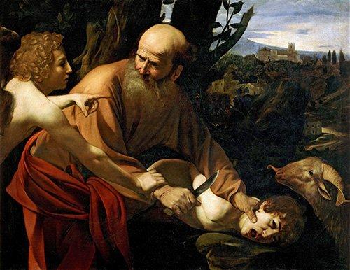 quadros-religiosos - Quadro -Sacrificio De Isaac- - Caravaggio, Michelangelo M.