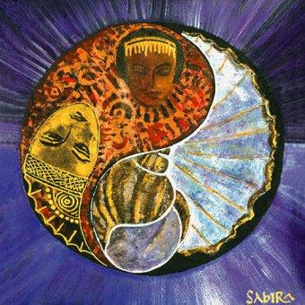 quadros étnicos e orientais - Quadro -Taurus-Scorpio, 2009- - Manek, Sabira