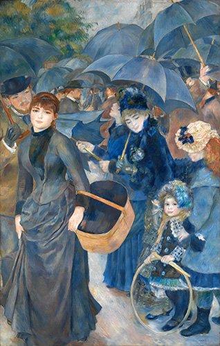 pinturas-de-retratos - Quadro -Los paraguas, (1881-86)- - Renoir, Pierre Auguste