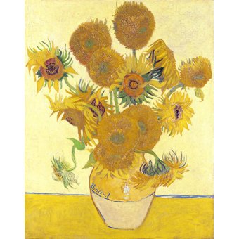 quadros de flores - Quadro - Girassois - - Van Gogh, Vincent