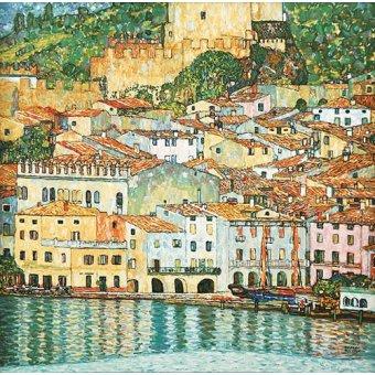 - Quadro -Malcesine on Lake Garda- - Klimt, Gustav