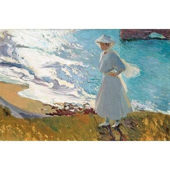 pinturas de retratos - Quadro -Biarritz- - Sorolla, Joaquin