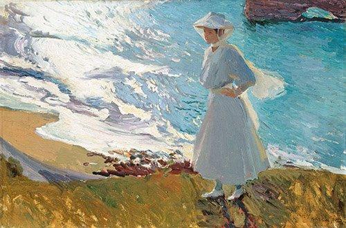 pinturas-de-retratos - Quadro -Biarritz- - Sorolla, Joaquin