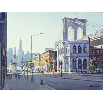quadros de paisagens - Quadro -Brooklyn Bridge, New York (oil on canvas)- - Barrow, Julian