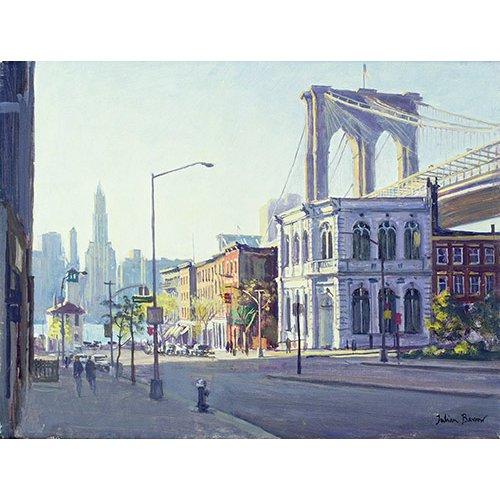 Quadro -Brooklyn Bridge, New York (oil on canvas)-