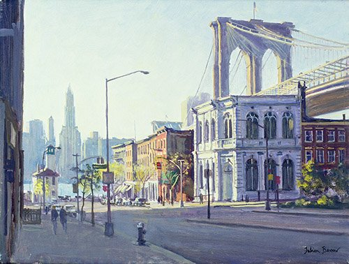 quadros-modernos - Quadro -Brooklyn Bridge, New York (oil on canvas)- - Barrow, Julian