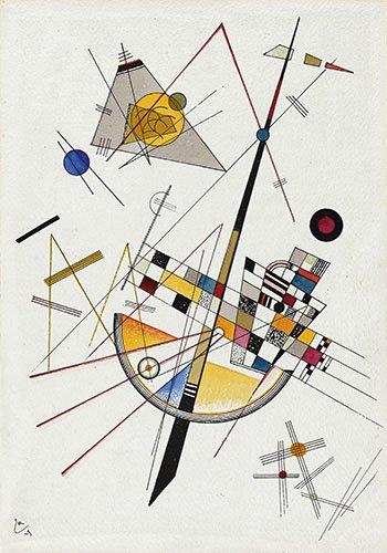 quadros-abstratos - Quadro - weiche Spannung-no-85 - - Kandinsky, Wassily