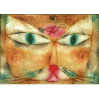 Quadros para quarto - Quadro - Gato e pássaro - - Klee, Paul