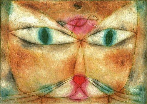 quadros-abstratos - Quadro - Gato e pássaro - - Klee, Paul