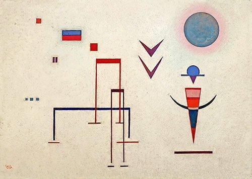 quadros-abstratos - Quadro - Barulhos de brincadeira, 1929 - - Kandinsky, Wassily