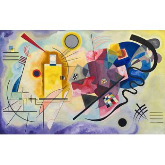 Quadros para quarto - Quadro - amarelo vermelho azul - - Kandinsky, Wassily
