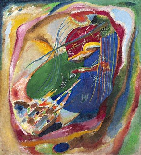 quadros-abstratos - Quadro - Imagem com três manchas, nº196, 1914 - - Kandinsky, Wassily