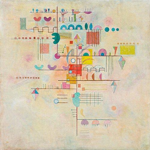quadros-abstratos - Quadro - Gentle accent - - Kandinsky, Wassily