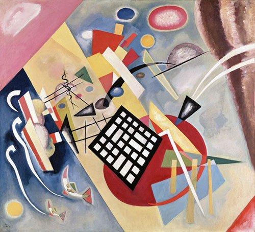 quadros-abstratos - Quadro - Black Frame, 1922 - - Kandinsky, Wassily