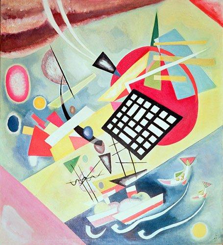 quadros-abstratos - Quadro - Black Network, 1922 - - Kandinsky, Wassily