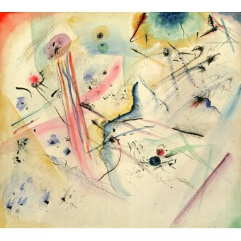 - Quadro - Composition with Red and Blue Stripes, 1913 - - Kandinsky, Wassily