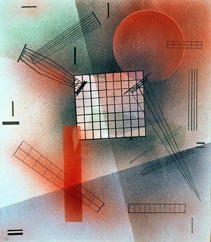 quadros-abstratos - Quadro - Composition, 1928 - - Kandinsky, Wassily