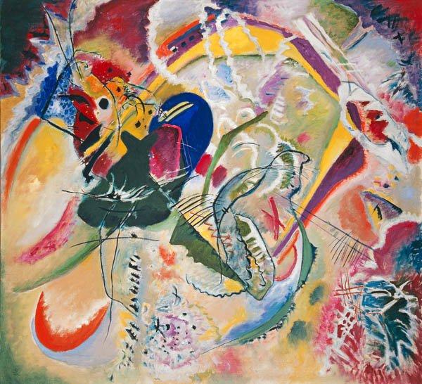 quadros-abstratos - Quadro - Improvisation 35, 1914 - - Kandinsky, Wassily
