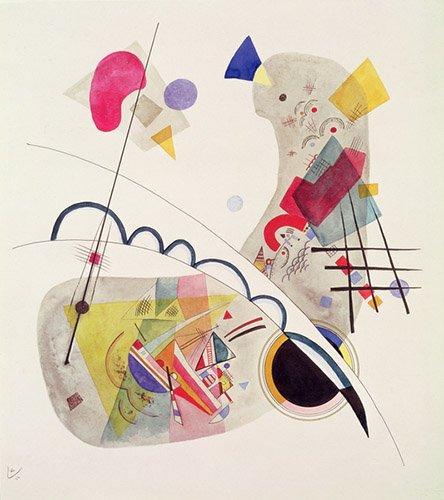 quadros-abstratos - Quadro - Grave Forme, 1922 - - Kandinsky, Wassily