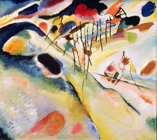 quadros-abstratos - Quadro - Landscape, 1913 - - Kandinsky, Wassily