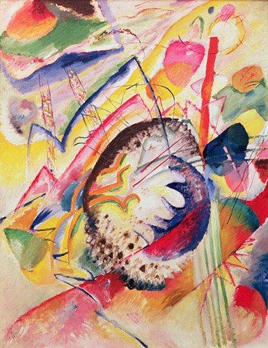 quadros-abstratos - Quadro - Large Study, 1914 - - Kandinsky, Wassily