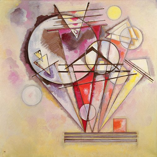 quadros-abstratos - Quadro - On the Points, 1928 - - Kandinsky, Wassily