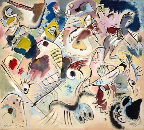 quadros-abstratos - Quadro - Sketch 160A, 1912 - - Kandinsky, Wassily