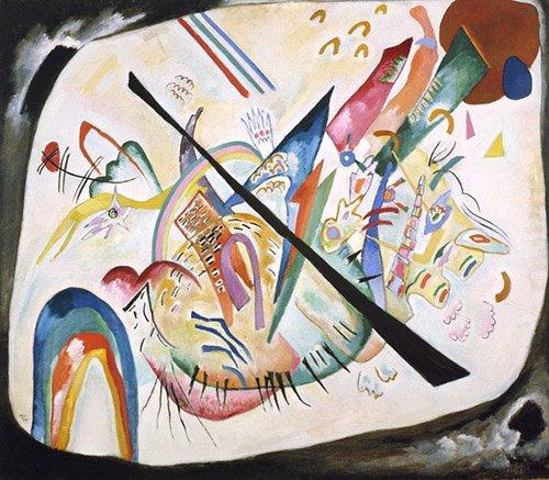 quadros-abstratos - Quadro - White oval, 1919 - - Kandinsky, Wassily