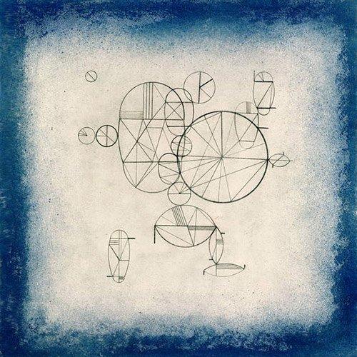 quadros-abstratos - Quadro - Blue Circles, 1933 - - Kandinsky, Wassily