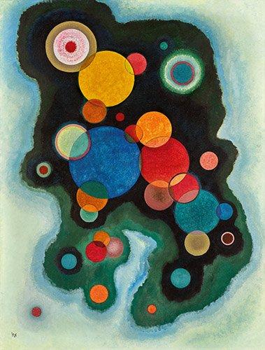 quadros-abstratos - Quadro - Impulso profundo, 1928 - - Kandinsky, Wassily