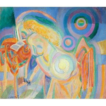 - Quadro - Mulher nua lendo, 1915 - - Delaunay, Robert