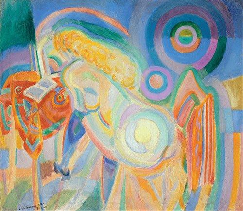 quadros-abstratos - Quadro - Mulher nua lendo, 1915 - - Delaunay, Robert